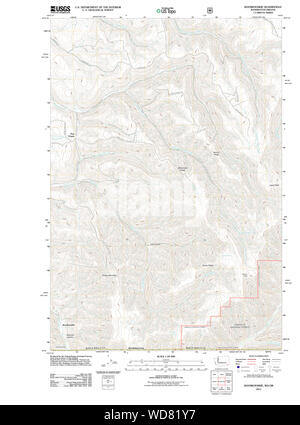 USGS Topo Map Washington State WA Kooskooskie 20110914 TM Restoration - Stock Photo