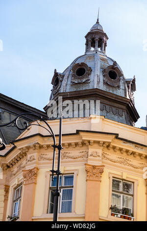 Medieval architecture in the old town, Sibiu – Romania. - Stock Photo