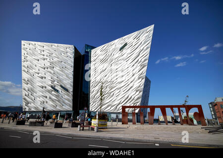 titanic belfast titanic museum Belfast Northern Ireland UK - Stock Photo
