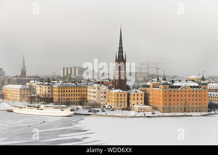 Stockholm during winter in Sweden - Stock Photo