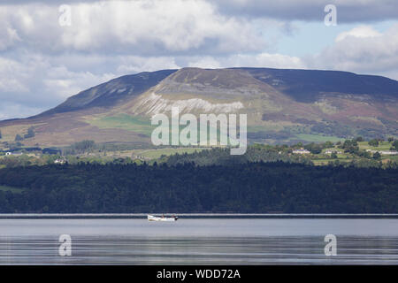 Lough Gill and Benbulbin in County Sligo, Ireland. - Stock Photo