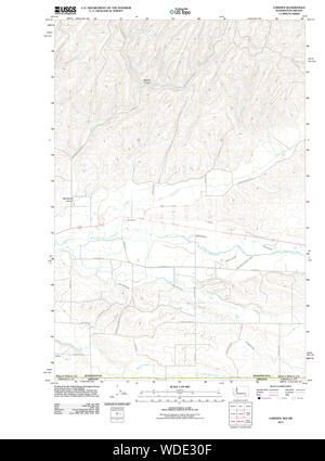 USGS Topo Map Washington State WA Lowden 20110914 TM Restoration - Stock Photo