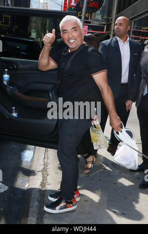 New York, NY, USA. 29th Aug, 2019. Cesar Millan at Strahan & Sara promoting the new season of Dog Whisperer in New York City on August 29, 2019. Credit: Rw/Media Punch/Alamy Live News - Stock Photo