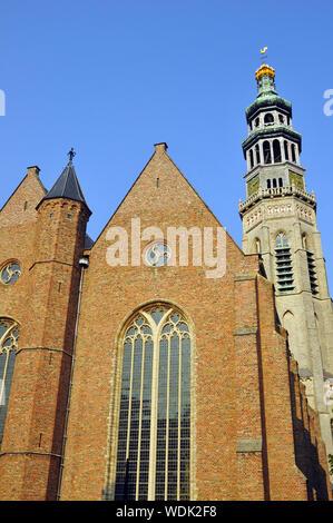 Lange Jan church, Middelburg, Zeeland, Netherlands, Europe - Stock Photo