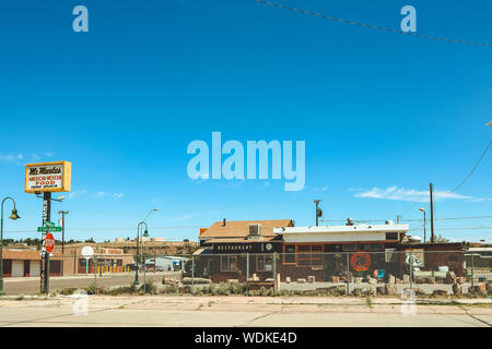 Holbrook, Arizona / USA – August 3, 2919: Mr Maestas Restaurant - Stock Photo