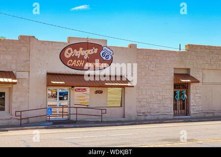 Holbrook, Arizona / USA – August 3, 2919: Ortega's Cash Express - Stock Photo