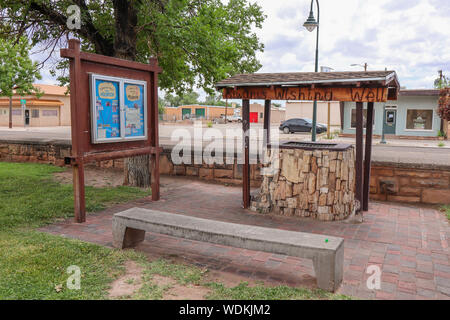 Holbrook, Arizona / USA – August 3, 2919: Kiwanis, wishing well - Stock Photo