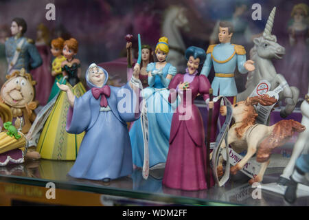 Disney princess figurines - Stock Photo
