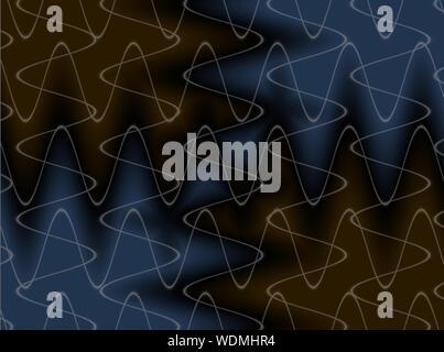 Abstract advertising blue black gradient curvature background, contemporary dynamic pattern
