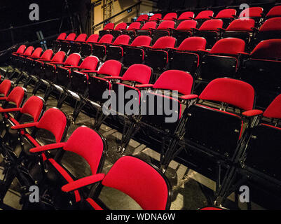 Empty Red Chair In Theater
