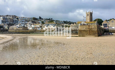 Village of St Ives Cornwall - Stock Photo