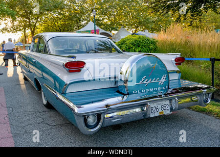 Super 8, Oldsmobile, Collector Car Show, Vancouver, British Columbia, Canada - Stock Photo
