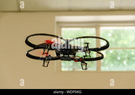 Drone Flying In Room - Stock Photo