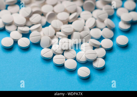 Background of color pills for use in graphic design in medical applications, brochures, presentations and publications. pink color - Stock Photo