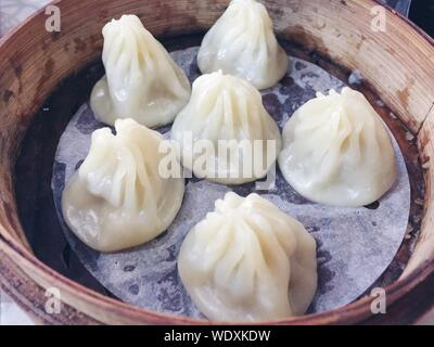 Close-up Of Chinese Dumplings - Stock Photo