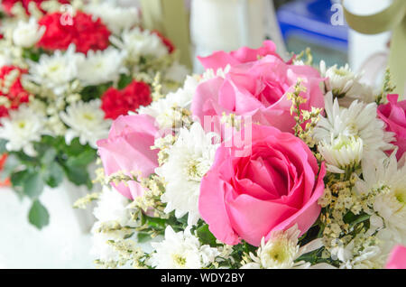 Close-up Of Flowers Bouquets - Stock Photo