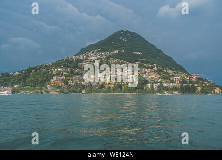 Scenic View Of Lugano Lake - Stock Photo