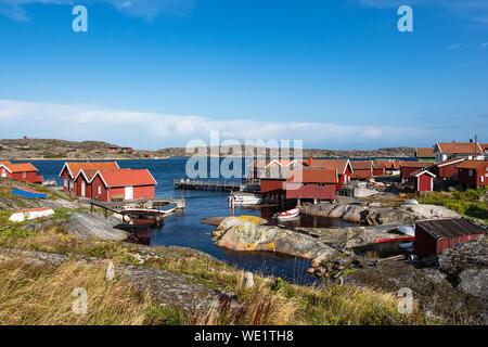 View to the island Kaeringoen in Sweden. - Stock Photo