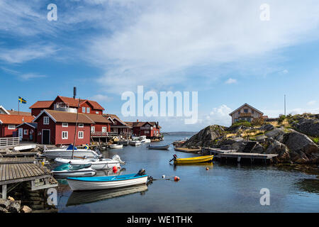 View to the island Kaeringoen in Sweden. - Stock Photo