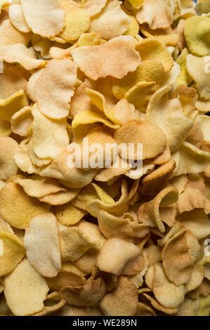 Full Frame Shot Of Potato Chips - Stock Photo