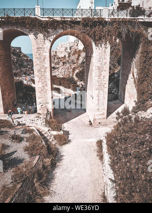 High Angle View Of Arch Bridge - Stock Photo