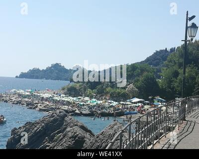 Panoramic View Of Sea Against Clear Sky - Stock Photo