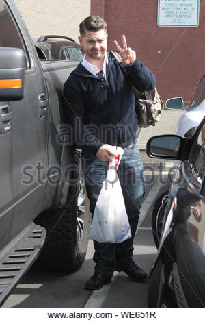 Hollywood, CA - Jack Osbourne gets ready to rehearse for 'Dancing With The Stars'. AKM-GSI October 24, 2013 - Stock Photo