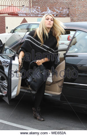 Hollywood, CA - Emma Slater gets ready to rehearse for 'Dancing With The Stars'. AKM-GSI October 24, 2013 - Stock Photo