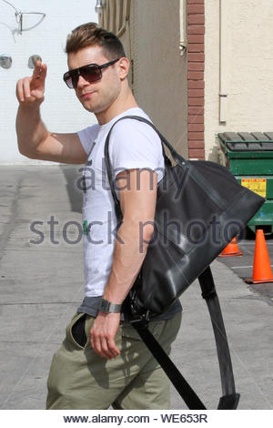 Hollywood, CA - Henry Byalikov gets ready to rehearse for 'Dancing With The Stars'. AKM-GSI October 24, 2013 - Stock Photo