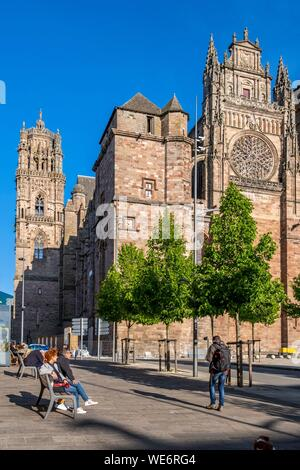 France, Aveyron, Rodez, the cathedral dating from the 13th 16th centuries