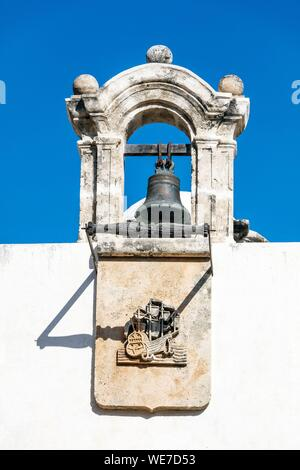 Mexico, Campeche state, Campeche, fortified city listed as World Heritage by UNESCO, the sea gate (puerta del mar) - Stock Photo