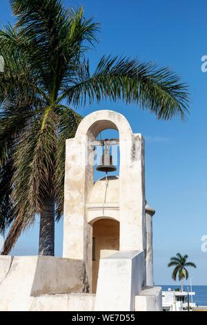 Mexico, Campeche state, Campeche, fortified city listed as World Heritage by UNESCO, San Carlos bastion - Stock Photo