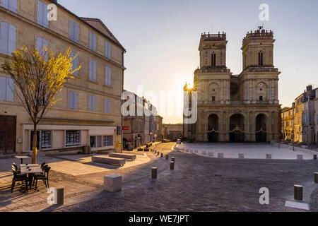 France, Gers, Auch, stop on El Camino de Santiago, Sainte Marie cathedral - Stock Photo