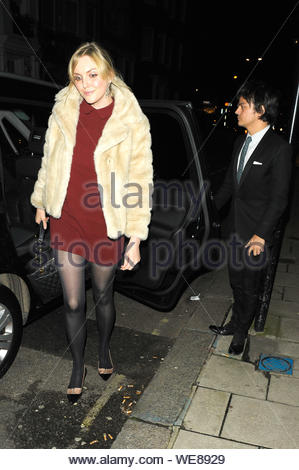 London, UK - English author and former fashion model Sophie Dahl and husband Jamie Cullum arrive at Mark's Club. AKM-GSI November 7, 2013 - Stock Photo