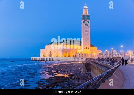 Morocco, Casablanca, the forecourt of the Hassan II mosque