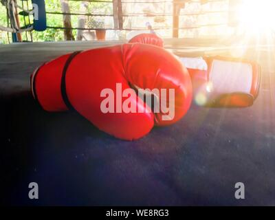 Close-up Of Red Boxing Glove - Stock Photo