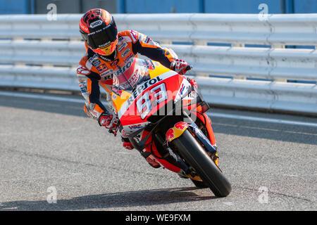 Misano Adriatico, Italy, 30 Aug 2019, 93 MARC MáRQUEZ REPSOL HONDA TEAM during Test Ufficiali Motogp To Misano 2019 - MotoGP - Credit: LPS/Alessio Marini/Alamy Live News - Stock Photo