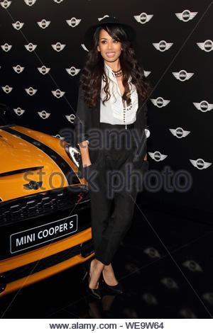 London, Uk - Guest attends the World Premiere of the new MINI at the Old Sorting Office in London. 18th November 2013. AKM-GSI November 18, 2013 - Stock Photo