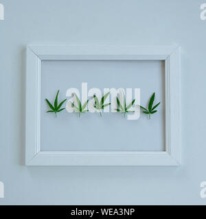 Review of five stars on a frame. Feedback concept, space for text - Stock Photo