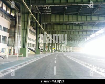 Road At Flughafen Berlin Tempelhof On Sunny Day - Stock Photo