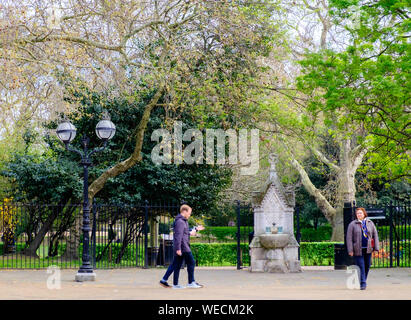 Lincoln's Inn Fields, the largest public square in London, located across from Lincoln's Inn and the Inns of Court. - Stock Photo