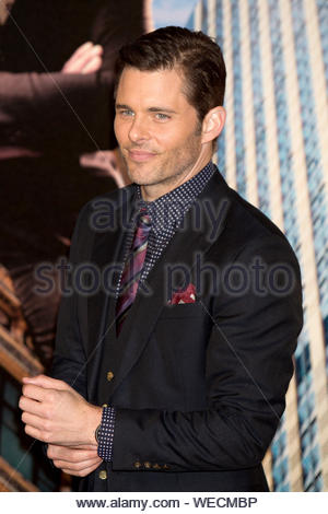 London, UK - James Marsden at the 'Anchorman 2: The Legend Continues' premiere at the Vue West End in Leicester Square in London. AKM-GSI December 11, 2013 - Stock Photo