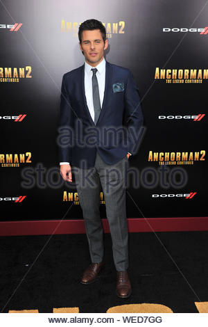 New York, NY - James Marsden at the 'Anchorman 2: The Legend Continues' premiere at Beacon Theatre in New York City. AKM-GSI December 15, 2013 - Stock Photo