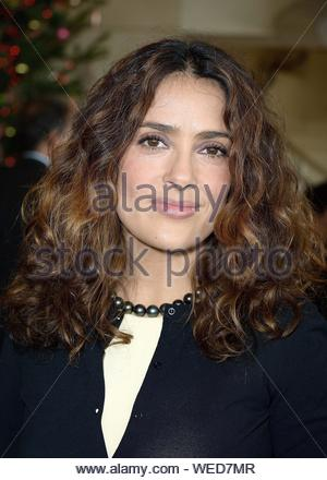 Paris, France - Salma Hayek at the 'Reves d'Enfants' Arop charity event held at Opera Bastille in Paris. AKM-GSI December 15, 2013 - Stock Photo