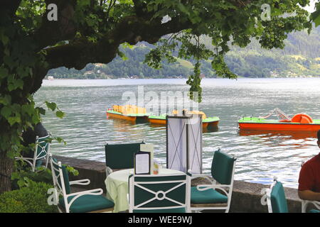 Uferpromenade in Zell am See - Stock Photo