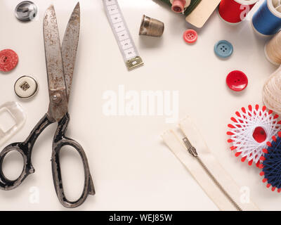 High Angle View Of Various Objects On Table - Stock Photo