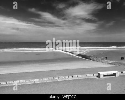 Sunny Beach On Norderney Island - Stock Photo