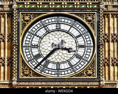 Close-up Of Big Ben Clock Face - Stock Photo