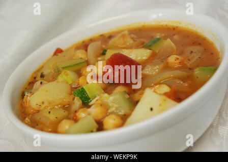 Close-up Of Chick-pea Soup In Bowl - Stock Photo