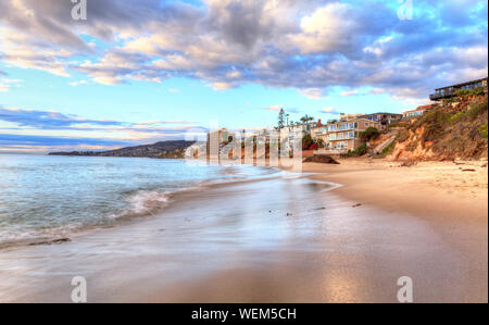 Scenic View Of Beach Against Sky - Stock Photo